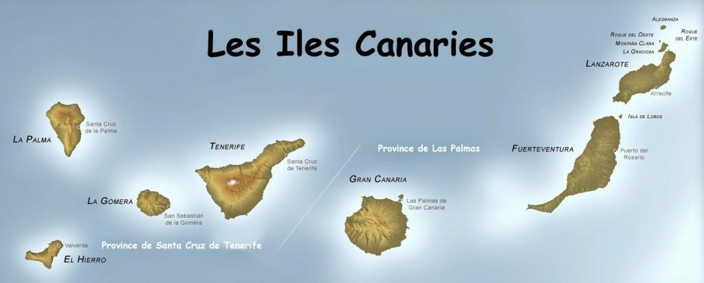 Carte de l'archipel des Canaries